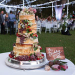 Wedding Cake at Outdoor Function on Liberty Square