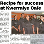 Feature on our Alice Springs Indigenous Training Cafe